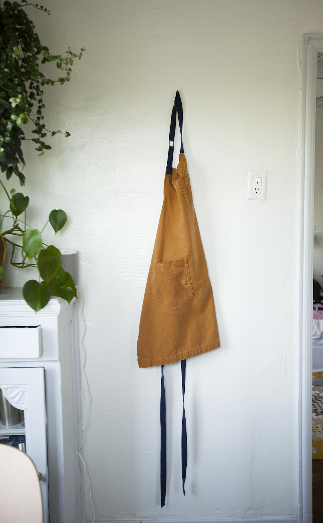 Lee's apron hangs in her kitchen