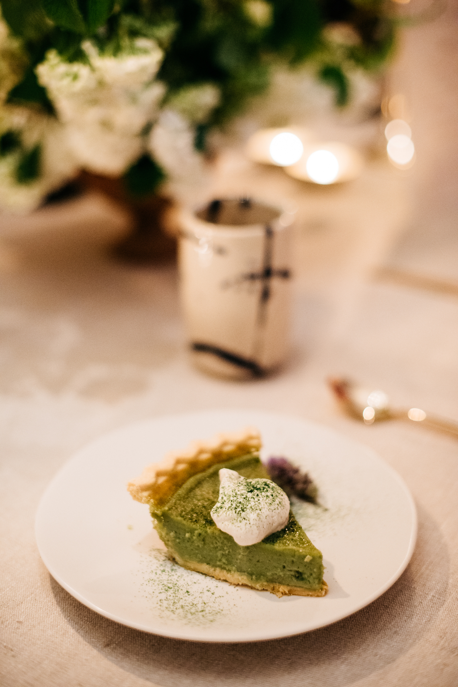 Lee Tilghman's matcha pie